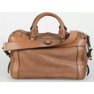 Authentic Burberry Banford Bowling Bag Satchel